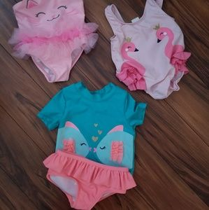 3 infant girl swim suits